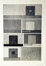 Peter Halley, Untitled Black and White Prisons, 1991