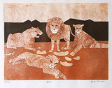 Julian Trevelyan, Lions, 1966-1967