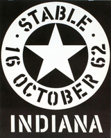 Robert Indiana, Stable Gallery October 1962 (Hand Signed & Inscribed), 1962