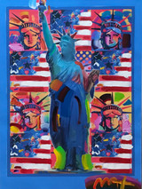 Peter Max, God Bless America II, 2001