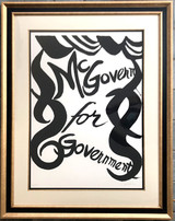 Alexander Calder, McGovern for McGovernment (B & W), 1972