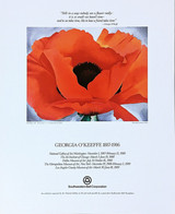 Georgia O'Keeffe 1887 - 1986 with Friendship Quote, 1987
