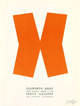 Ellsworth Kelly at Ferus Gallery (Hand Signed), 1966