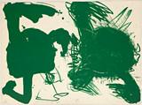 Walasse Ting, Green Bombshell from Hollywood Honeymoon, 1964