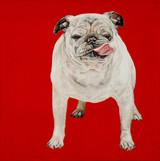 Brenda Zlamany, Blu on Red, 2013