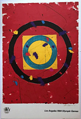 Sam Francis, Los Angeles Olympic Games 1984 with COA from Olympic Committee, 1982