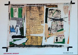 Jean-Michel Basquiat, Rare Tony Shafrazi Poster, Basquiat Estate Authorized