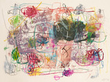 Yoshiaki Yoshinari, Rare Untitled Japanese Abstract Expressionist painting from the Allan Stone Collection, 1993