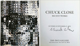 Chuck Close, Chuck Close Recent Works (Hand Signed), 1993