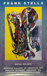 """FRANK STELLA """"Metal Reliefs"""", Lt. Ed Silkscreen Signed, Numbered 33/100, 1982 Phillips Andover Academy - Rare!"""