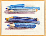 Grace Knowlton, Colored Pencils, 1978