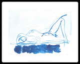 Tracey Emin, Laying on Blue, 2011