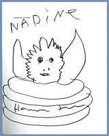 Harmony Korine, Original Drawing signed and inscribed to Nadine, 2018