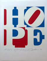 Robert Indiana, HOPE, 2008, inscribed Artist's Proof