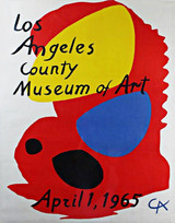 Alexander Calder, historic, original LACMA poster, 1965 (NOT the later reprint)