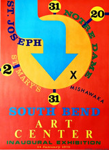 Robert Indiana, South Bend Art Center (Hand signed and inscribed), 1978