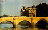 Christo, The Pont Neuf, Paris Wrapped (Hand Signed), from the Estate of Aviva and Jacob Bal Teshuvah, ca. 1985