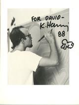 Keith Haring, Unique Drawing, 1988 (inscribed to David)