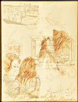LeRoy Neiman Original Drawing, Eileen at '21' (Portrait of Eileen Ford)