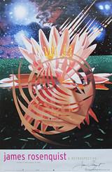JAMES ROSENQUIST, Hand Signed Poster from Guggenheim Museum Retrospective, 2004