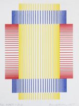 Richard Anuszkiewicz Silkscreen, Annual Edition 1997 Signed & Dedicated