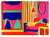 """John Grillo Silkscreen """"Living Room"""", 1978 (Lt. Ed: Signed, Numbered)"""