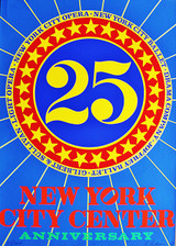 Robert Indiana, New York City Center Silkscreen., 1968 (Hand Signed, Numbered)