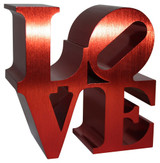 Robert Indiana, Red Love Sculpture, 2011, Official Morgan Foundation/Indianapolis Museum of Art