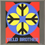 """ROBERT INDIANA, """"Yield Brother"""", Signed, Inscribed, Dated with Original Drawing, 1990"""