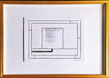 PETER HALLEY, Original Drawing (Untitled) from the Collection of Artist Bill Radawec (1952-2011)