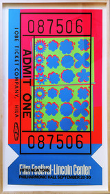 ANDY WARHOL, LINCOLN CENTER FILM FESTIVAL TICKET (Feldman & Schellmann II.19), 1967