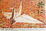 Vik Muniz, Paper Crane for Japan, Hand signed and inscribed to Kevin
