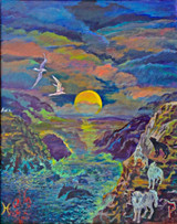 Thelma Appel, The Moon,  from the Journey of the Tarot, 2009