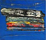 Norman Carton, Blue Cosmos (with Martha Jackson Gallery Label), ca. 1958