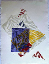 Sam Gilliam, Buoy Landscape IV, 1982