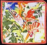 James Rosenquist,  Limited Edition Vintage Signed Louis Vuitton Silk Scarf, 1987