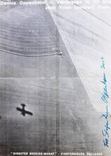Conceptual Artist DENNIS OPPENHEIM Historic Signed Offset Lithograph Poster 1969
