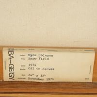 Hyde Solomon, Snow Field, 1974