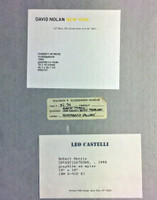 Robert Morris, Investigations (with labels from the Solomon R. Guggenheim Museum (lent by Sonnabend), Leo Castelli Gallery and David Noland Gallery), 1990