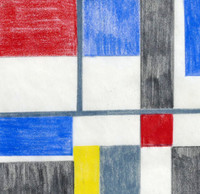Burton Wasserman, Untitled Mid Century Modern Geometric Abstraction, ca. 1960