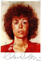 CHUCK CLOSE, Rare Signed, dedicated and inscribed vintage card 1988, Thick card hand signed, dated, dedicated and inscribed by artist