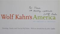 WOLF KAHN Wolf Kahn's America (Signed & Dedicated Book) 2003, Hand signed and dedicated hardback monograph