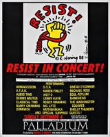 KEITH HARING Resist! at the Palladium, New York City, 1988