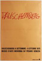 ROBERT RAUSCHENBERG Museo D'Arte Moderna, Ca' Pesaro Venezia Poster 1975,  Extremely rare vintage poster (unframed)