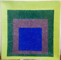 JOSEF ALBERS Study for Homage to the Square - Limited Edition Porcelain Charger (New in Box) 1999, Glazed Italian Porcelain