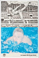 JENNIFER LOSCH BARTLETT JENNIFER BARTLETT Los Angeles 1984 Olympic Games (Hand Signed with Signed, Embossed Olympic Committee COA) 1982, Offset Lithograph Poster. Hand signed. Unframed.