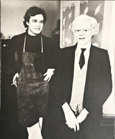 ANDY WARHOL JAMIE WYETH Andy Warhol & Jamie Wyeth: Portraits of Each Other (Signed by both Wyeth & Warhol) 1976,  Limited Edition Offset Lithograph. Signed by both artists and signed twice by Andy Warhol. Numbered. Unframed.