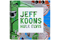 "JEFF KOONS Original signed, dated and inscribed drawing 2009, Unique drawing done in blue marker on the first front end page of Koons iconic monograph ""Hulk Elvis"". Hand signed, dated and inscribed ""To Neal."""