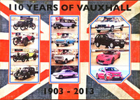 PETER BLAKE 110 Years of Vauxhall 2013, Silkscreen on Linen. Hand signed and numbered from the limited edition of 100.