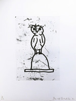 DONALD BAECHLER Owls (Plate VI) 1992, Aquatint Etching. Signed. Numbered. Dated. Unframed.